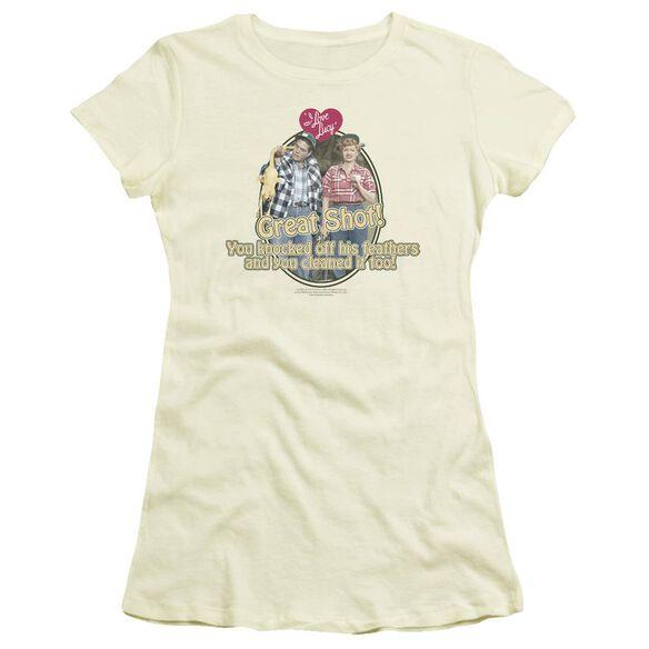 I Love Lucy Great Shot Short Sleeve Junior Sheer T-Shirt