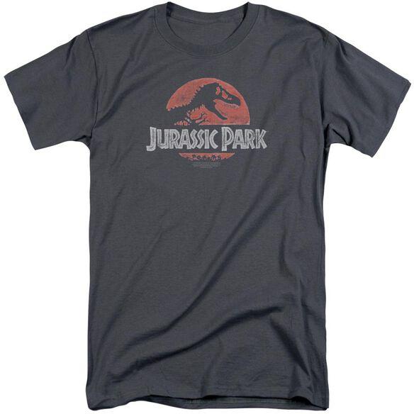Jurassic Park Faded Logo Short Sleeve Adult Tall T-Shirt