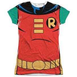 Batman The Animated Series Robin Uniform Short Sleeve Junior Poly Crew T-Shirt