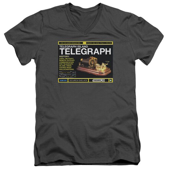 Warehouse 13 Telegraph Island Short Sleeve Adult V Neck T-Shirt