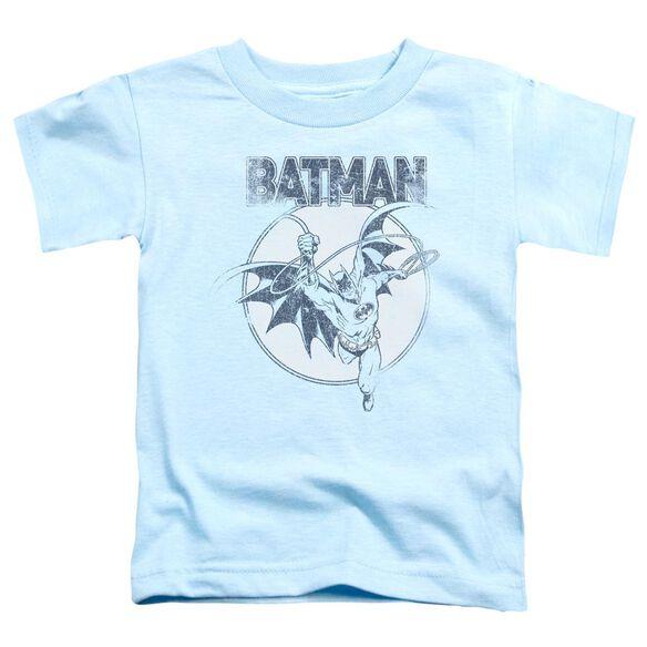 Batman Swinging Bat Short Sleeve Toddler Tee Light Blue Lg T-Shirt