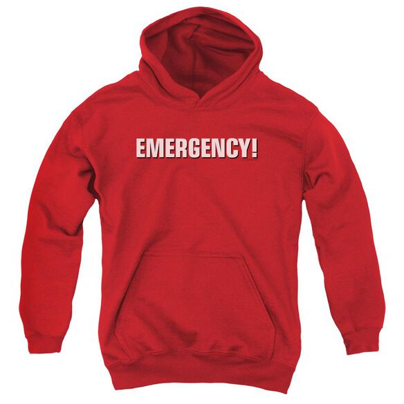 Emergency Logo Youth Pull Over Hoodie
