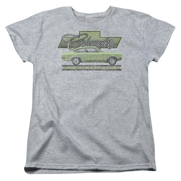 Chevrolet Vega Car Of The Year 71 Short Sleeve Womens Tee Athletic T-Shirt