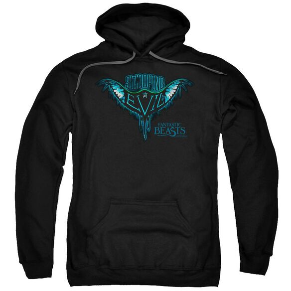 Fantastic Beasts Swooping Evil Adult Pull Over Hoodie Black