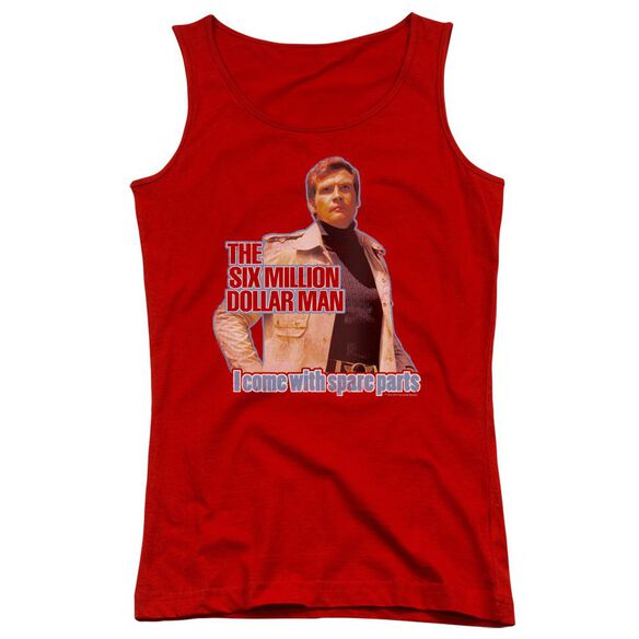 Six Million Dollar Man Spare Parts Juniors Tank Top