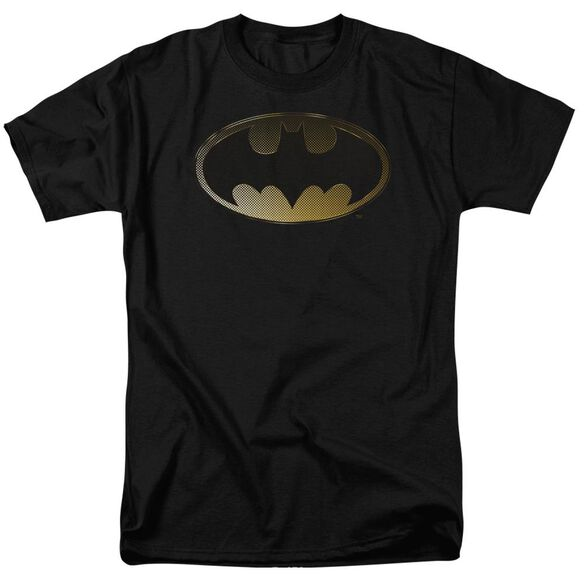 BATMAN HALFTONE BAT - S/S ADULT 18/1 - CHARCOAL T-Shirt