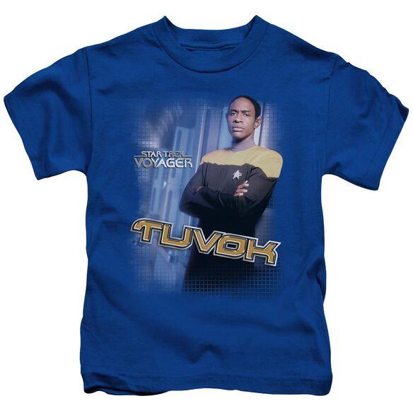 Star Trek Tuvok Short Sleeve Juvenile Royal Blue T-Shirt