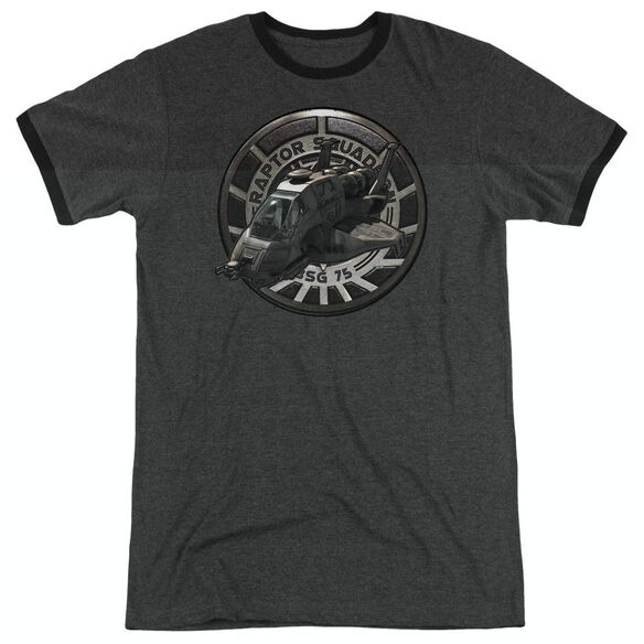 Bsg Raptor Squadron - Adult Heather Ringer - Charcoal