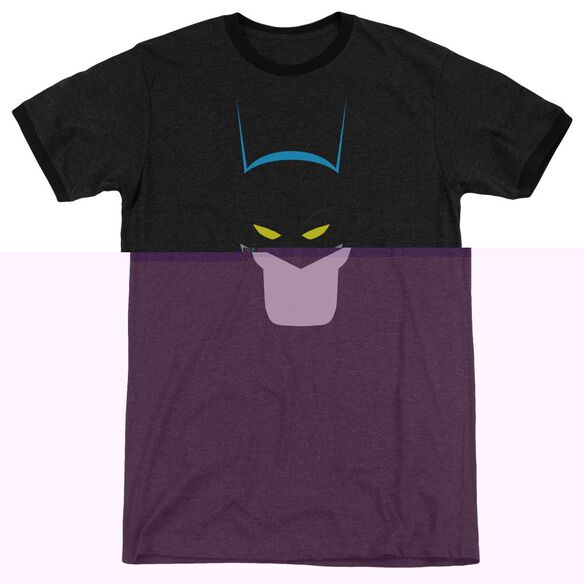 Batman Simplified - Adult Heather Ringer - Black