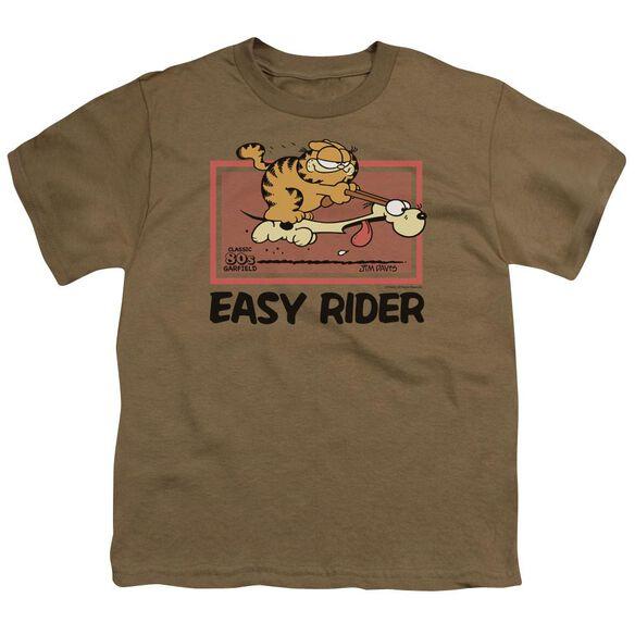 Garfield Vintage Easy Rider Short Sleeve Youth Safari T-Shirt