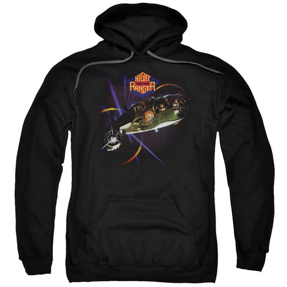 Night Ranger 7 Wishes Adult Pull Over Hoodie Black