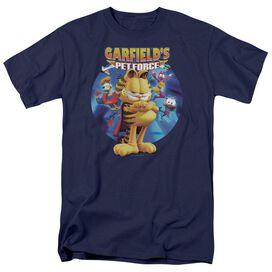 GARFIELD DVD ART - S/S ADULT 18/1 - NAVY T-Shirt