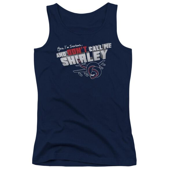 Airplane Dont Call Me Shirley Juniors Tank Top