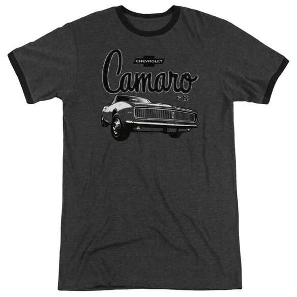 Chevrolet Script Car Adult Heather Ringer Charcoal