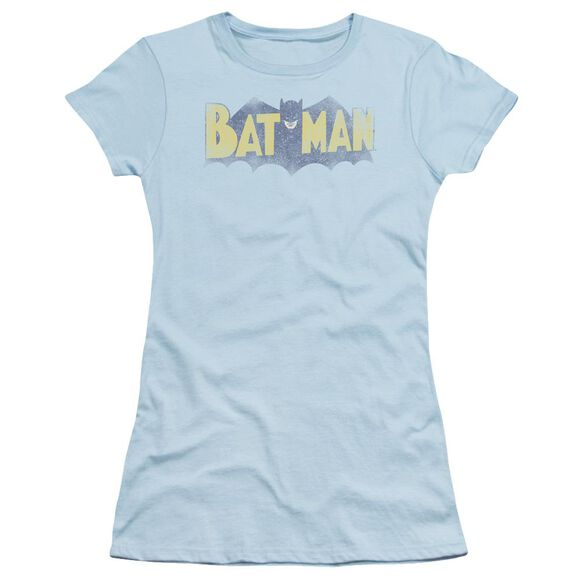 Batman Vintage Logo Short Sleeve Junior Sheer Light T-Shirt