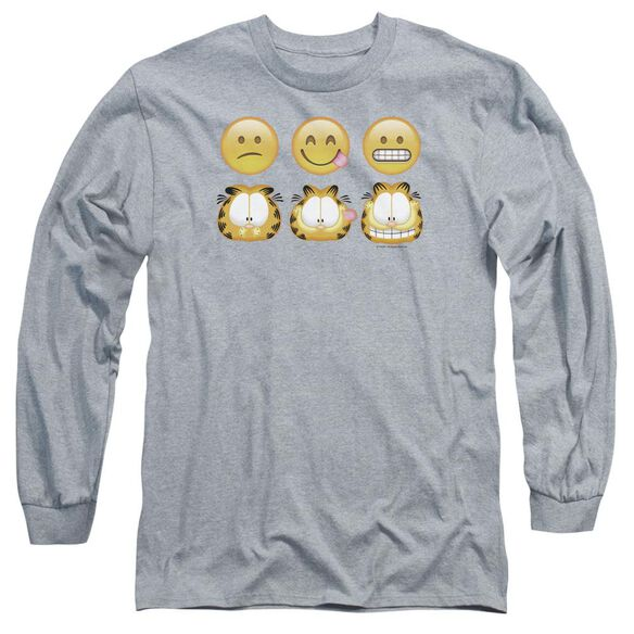 Garfield Emojis Long Sleeve Adult Athletic T-Shirt