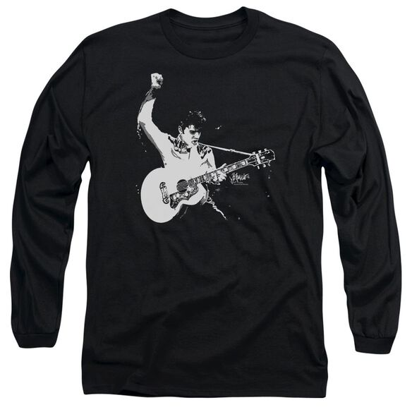 Elvis And White Guitarman Long Sleeve Adult T-Shirt