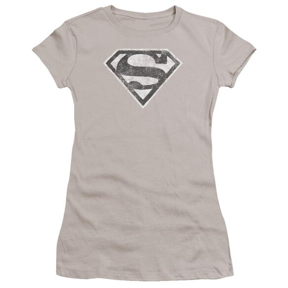 Superman Grey S Premium Bella Junior Sheer Jersey
