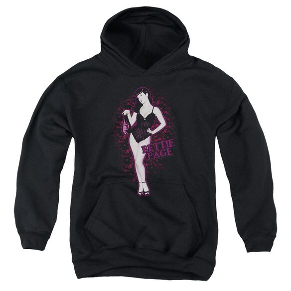 Bettie Page Lacy Youth Pull Over Hoodie