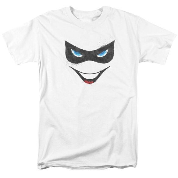BATMAN HARLEY FACE - S/S ADULT 18/1 - WHITE T-Shirt