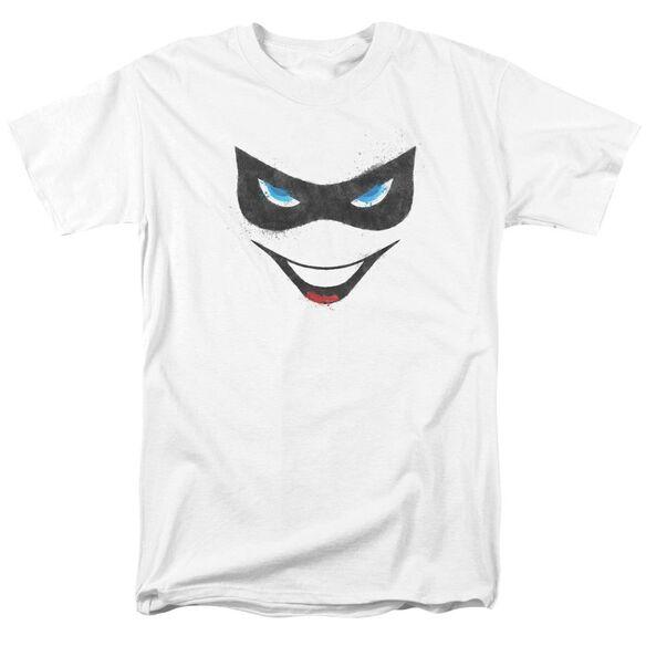 Batman Harley Face Short Sleeve Adult T-Shirt