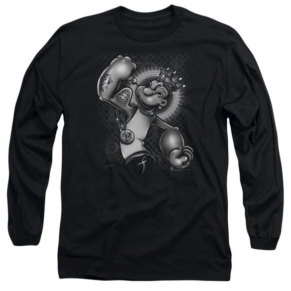 Popeye Spinach King Long Sleeve Adult T-Shirt