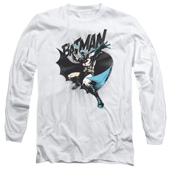 Batman Batarang Throw Long Sleeve Adult T-Shirt