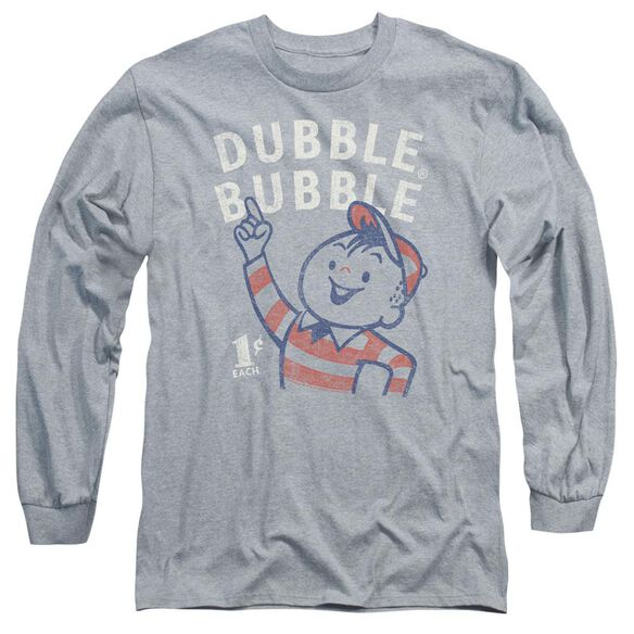 Dubble Bubble Pointing Long Sleeve Adult Athletic T-Shirt