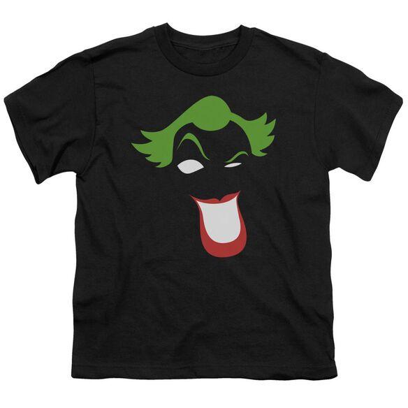 Batman Joker Simplified Short Sleeve Youth T-Shirt