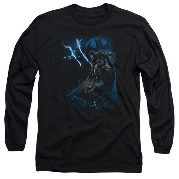 Batman Lightning Strikes Long Sleeve Adult T-Shirt