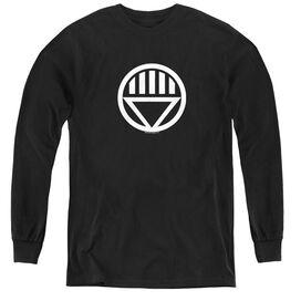 Green Lantern Black Lantern Logo - Youth Long Sleeve Tee