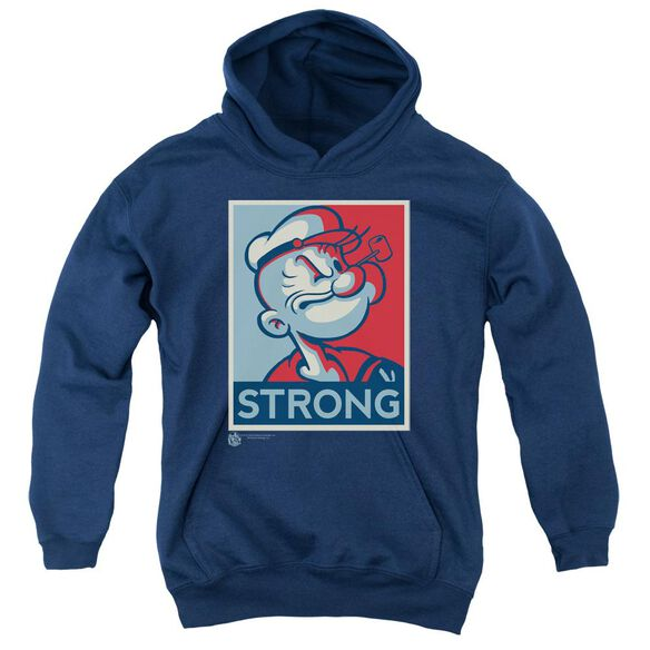 Popeye Strong Youth Pull Over Hoodie