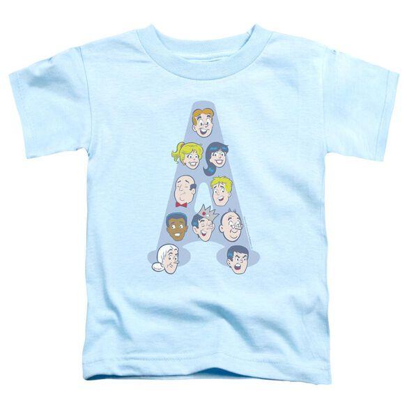 Archie Comics Character Heads Short Sleeve Toddler Tee Light Blue Sm T-Shirt
