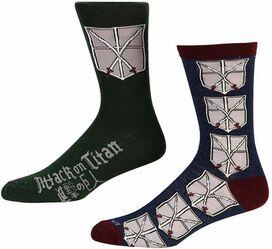 Attack On Titan Cadet Crew Socks 2-Pack