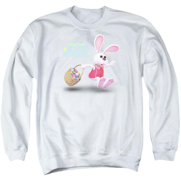 Here Comes Peter Cottontail Hop Around Adult Crewneck Sweatshirt