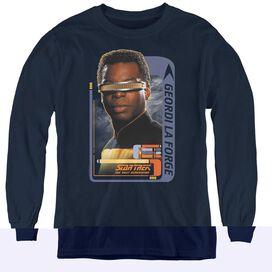 Star Trek Geordi Laforge - Youth Long Sleeve Tee - Navy
