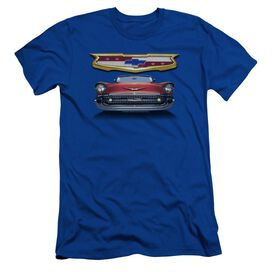 Chevrolet 1957 Bel Air Grille Short Sleeve Adult Royal T-Shirt