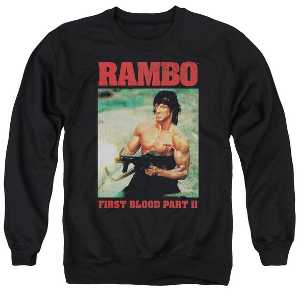 Rambo:First Blood Ii Dropping Shells Adult Crewneck Sweatshirt