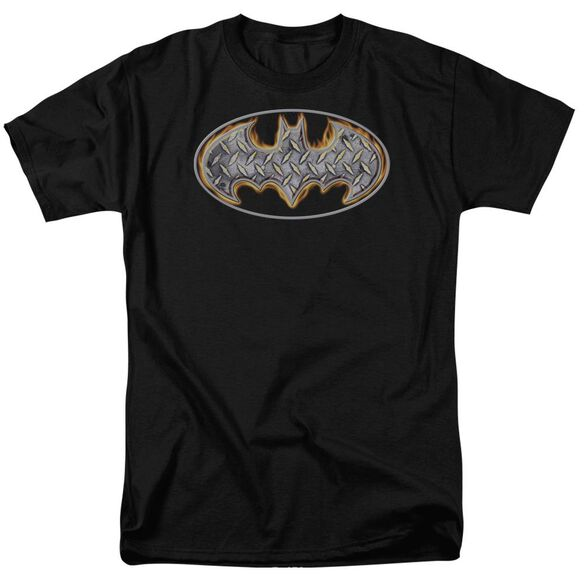 Batman Steel Fire Shield Short Sleeve Adult T-Shirt