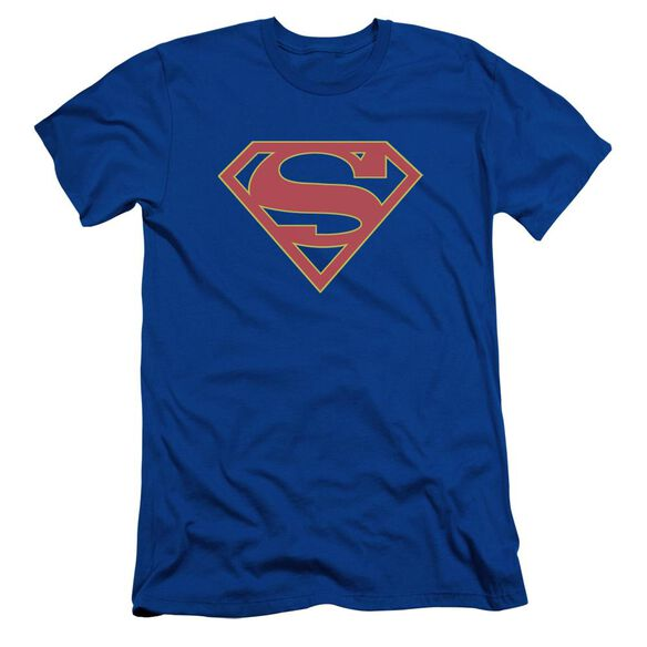Supergirl Logo Short Sleeve Adult Royal T-Shirt