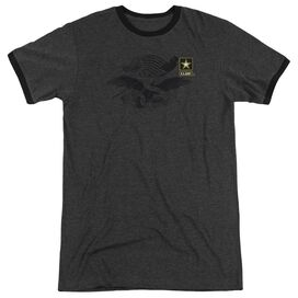 Army Left Chest Adult Heather Ringer Charcoal