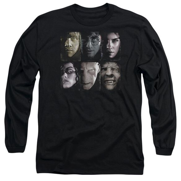 Harry Potter Horizontal Heads Long Sleeve Adult T-Shirt