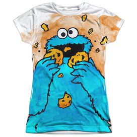 Sesame Street Cookie Crumbs Short Sleeve Junior Poly Crew T-Shirt