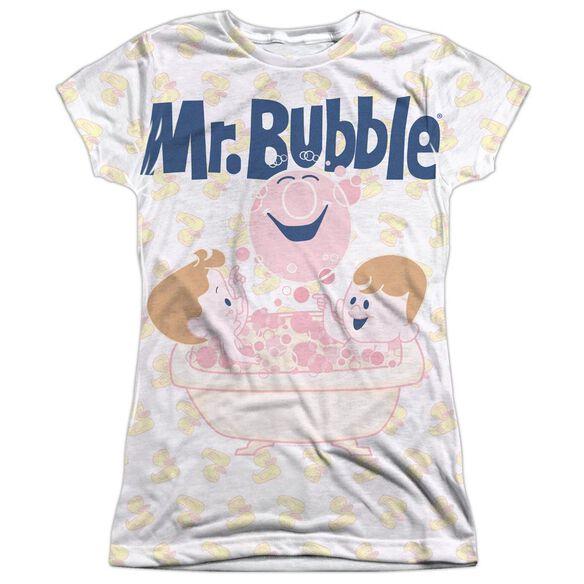 Mr Bubble Bath Buds Short Sleeve Junior Poly Crew T-Shirt
