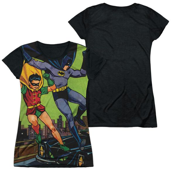 Batman Getaway Short Sleeve Junior Poly Black Back T-Shirt