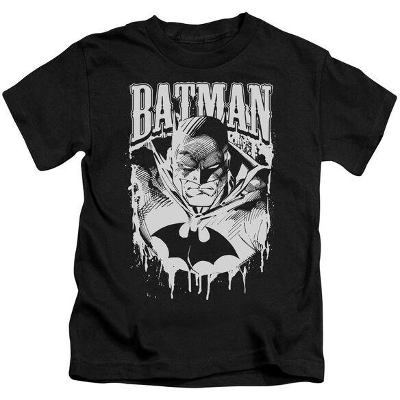 Batman Bat Metal Short Sleeve Juvenile Black T-Shirt