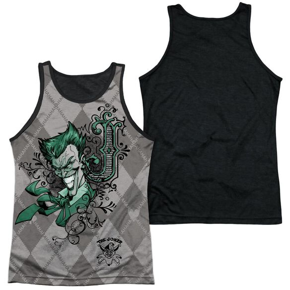 Batman Jokergyle Adult Poly Tank Top Black Back