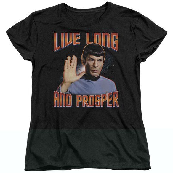 ST ORIGINAL LIVE LONG AND PROSPER - S/S WOMENS TEE - BLACK T-Shirt