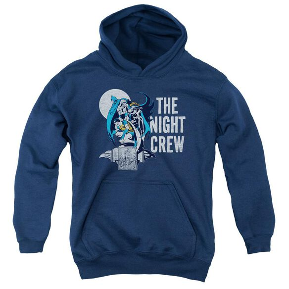 Dc Night Crew-youth Pull-over Hoodie - Navy