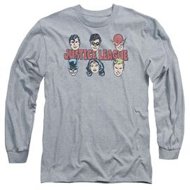 Dc Justice Lineup Long Sleeve Adult Athletic T-Shirt